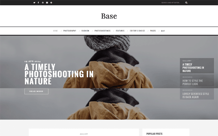 Base Free Blogger Template