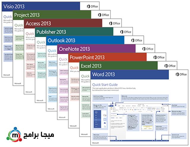 واجهة برنامج مايكروسوفت اوفيس 2013