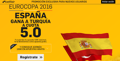 betfair España gana Turquia supercuota 5 Eurocopa 2016 17 junio