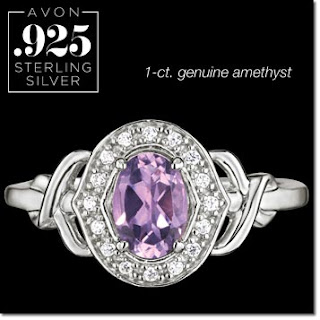 Sterling Silver Fancy Genuine Amethyst Ring