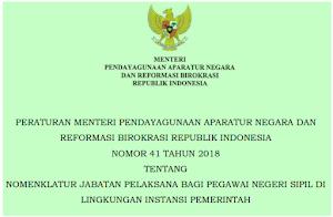 Nomenklatur Jabatan Pelaksana Bagi PNS Di Instansi Pemerintah