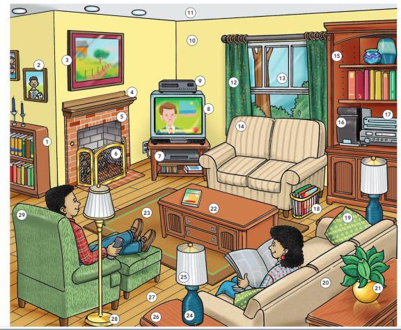 ايزي انجليش : تعرف على جميع مكونات غرفة المعيشة باللغة