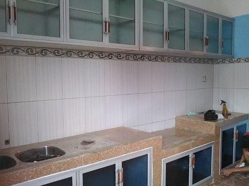 Gambar Kitchen Set Dari Baja Ringan Minimalis Modelkitchensetnya