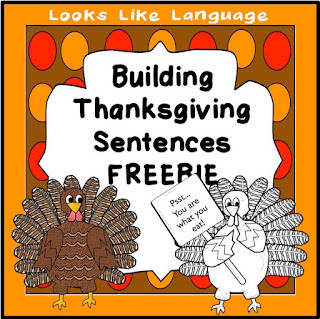 Differentiated teaching with this 2 level Thanksgiving freebie from Looks-Like-Language!