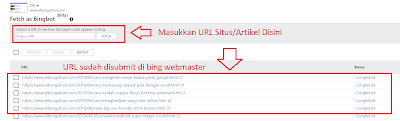Fetch As Bingbot Di Bing Webmaster