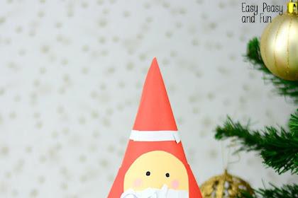 Paper Cone Santa Craft