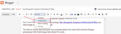 Tips Mengubah Tampilan Subheading Di Blog
