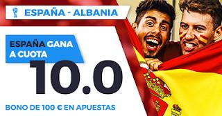 Paston Megacuota Clasificación Mundial: España - Albania 6 octubre