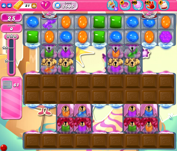 Candy Crush Saga level 2505