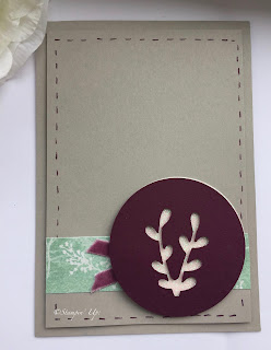Card Using Stampin Up Sprig Punch
