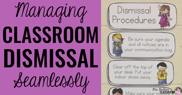 Does classroom dismissal time have your students climbing the walls? Make your expectations explicitly clear and your classroom dismissal routine will become seamless! Check out this post and the editable dismissal chart I'm highlighting. You'll love it and your Guest Teachers will thank you!