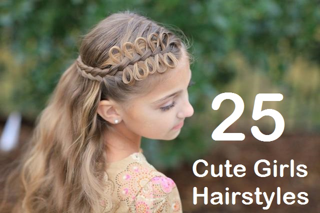 25 Cute Girls Hairstyles For Medium And Long Hair