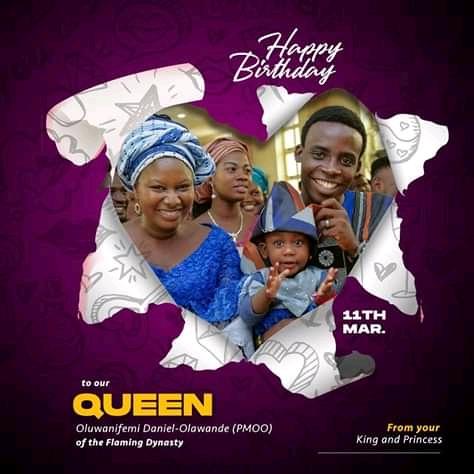 Happy Birthday Mrs Oluwanifemi Daniel Olawande @nifemidolawande