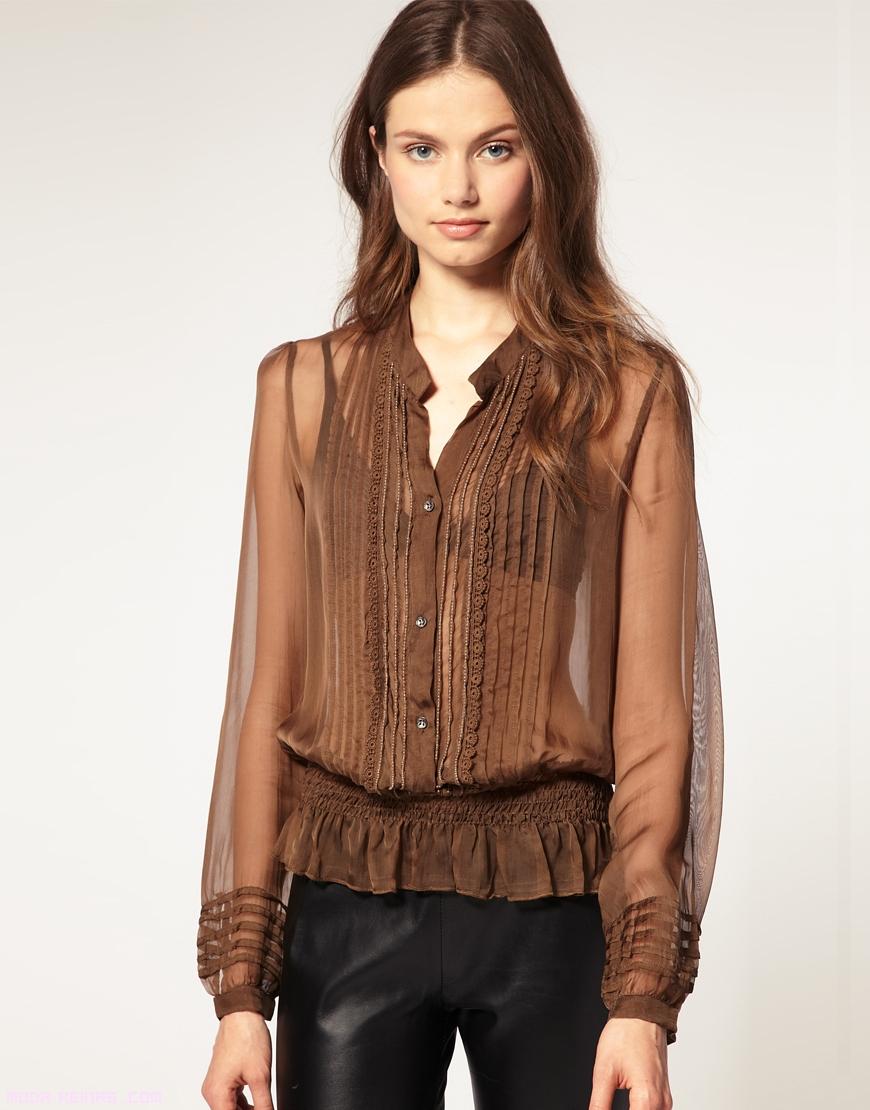 Moda y estilos blusas transparentes - Blusas de ultima moda ...