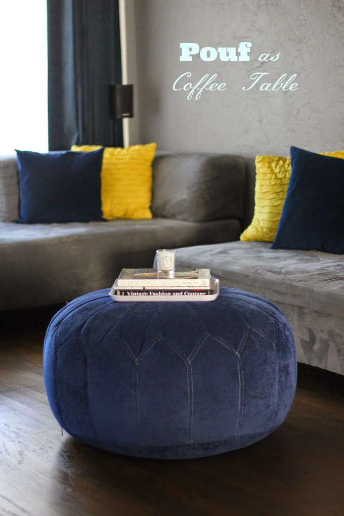 Home Decor On A Budget Poufs As Coffee Tables