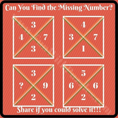 Tough Maths Puzzle to find missing Number
