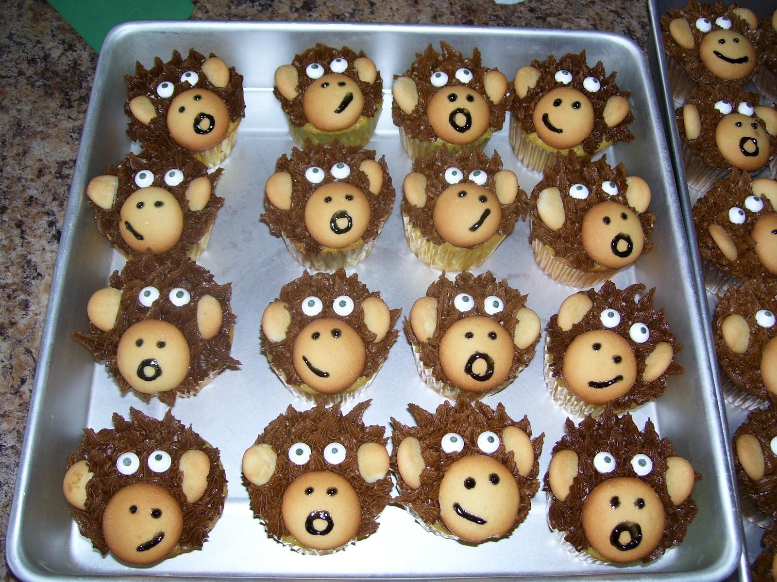 Bena S Bakes Monkey Cupcakes