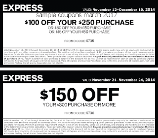 Express coupons for march 2017