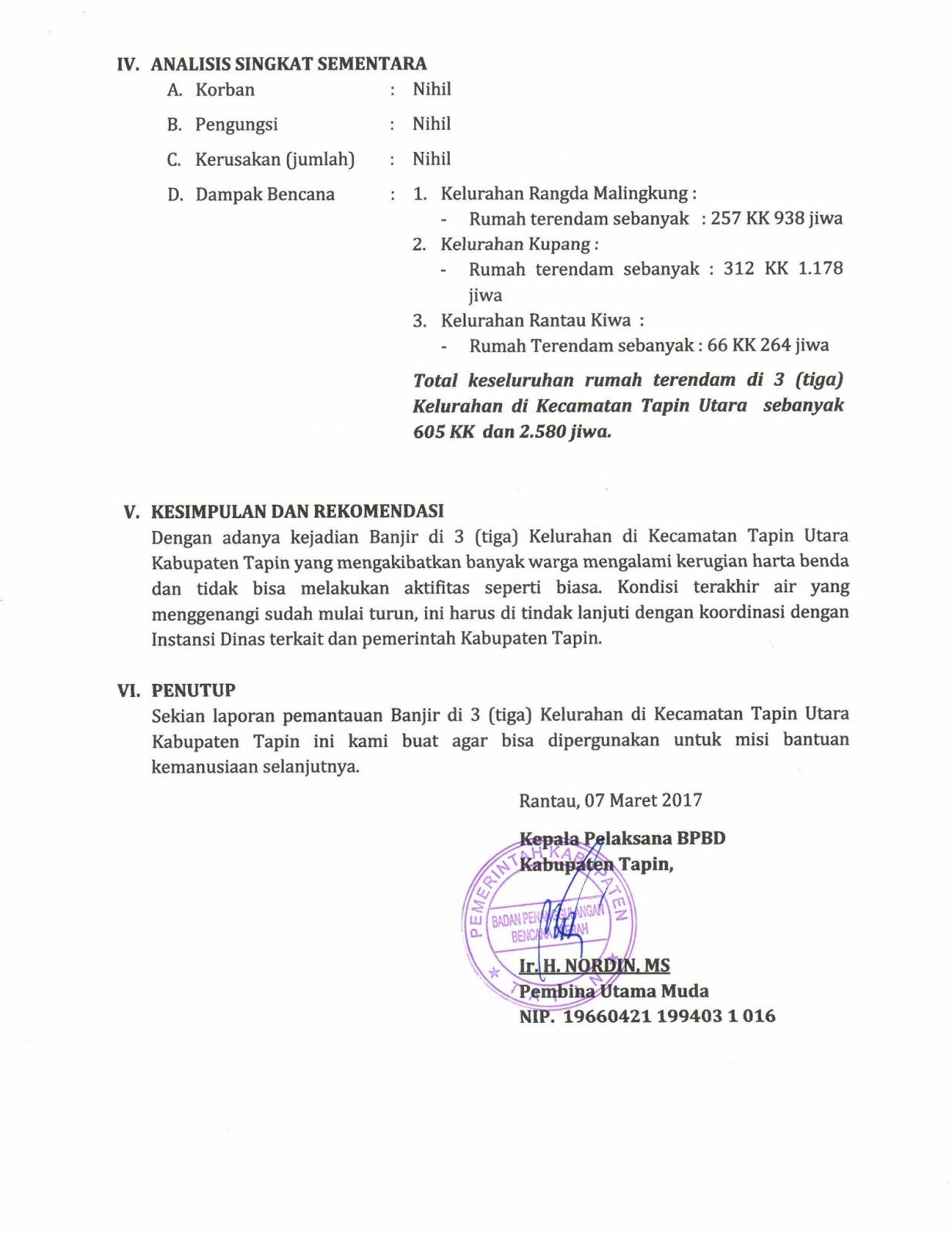 Laporan Banjir 3 Tiga Kelurahan Website Resmi Bpbd Kabupaten Tapin