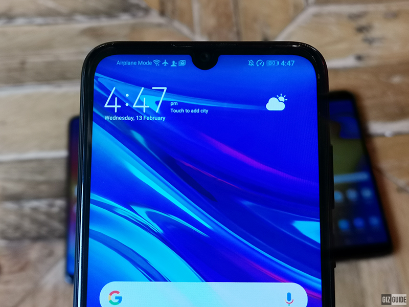 Tiny dewdrop notch of Y6 Pro 2019