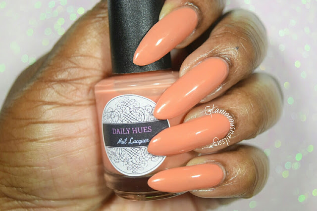 "Daily Hues Nail Lacquer ""Shimmer Orange"" Swatch"