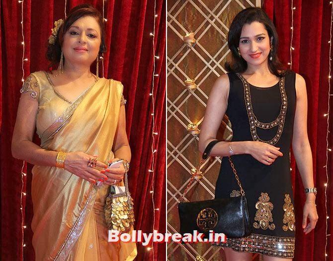 Anita Kanwal and Pooja Kanwal Mahtani on Indian Tele Awards 2013 Red carpet, Indian Tele Awards 2013 red Carpet Pictures - ITA - Lauren Gottlieb, Mouni Roy, Ratan Rajput