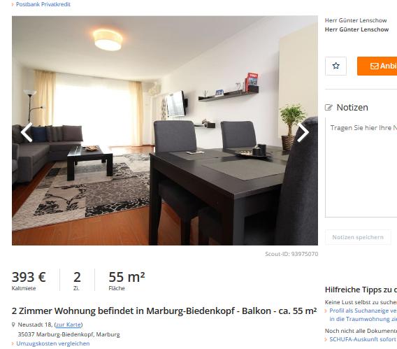 Wohnung Marburg  Zimmer