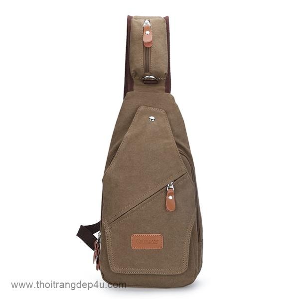 Túi đeo chéo nam vải bố sánh điệu BAF163