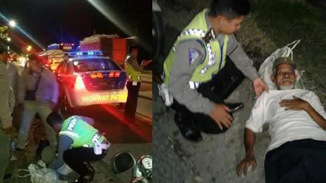 Polisi Rembang Temukan Kakek Telantar di Pinggir Jalan, Diantar ke Alamatnya, Ternyata. . .