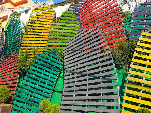 """Village Wriggling"" art installation in Gamcheon Village, Busan, South Korea"
