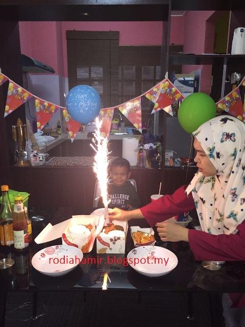 Sambutan hari lahir anak yang ke lima tahun Ikhwan Hafeez