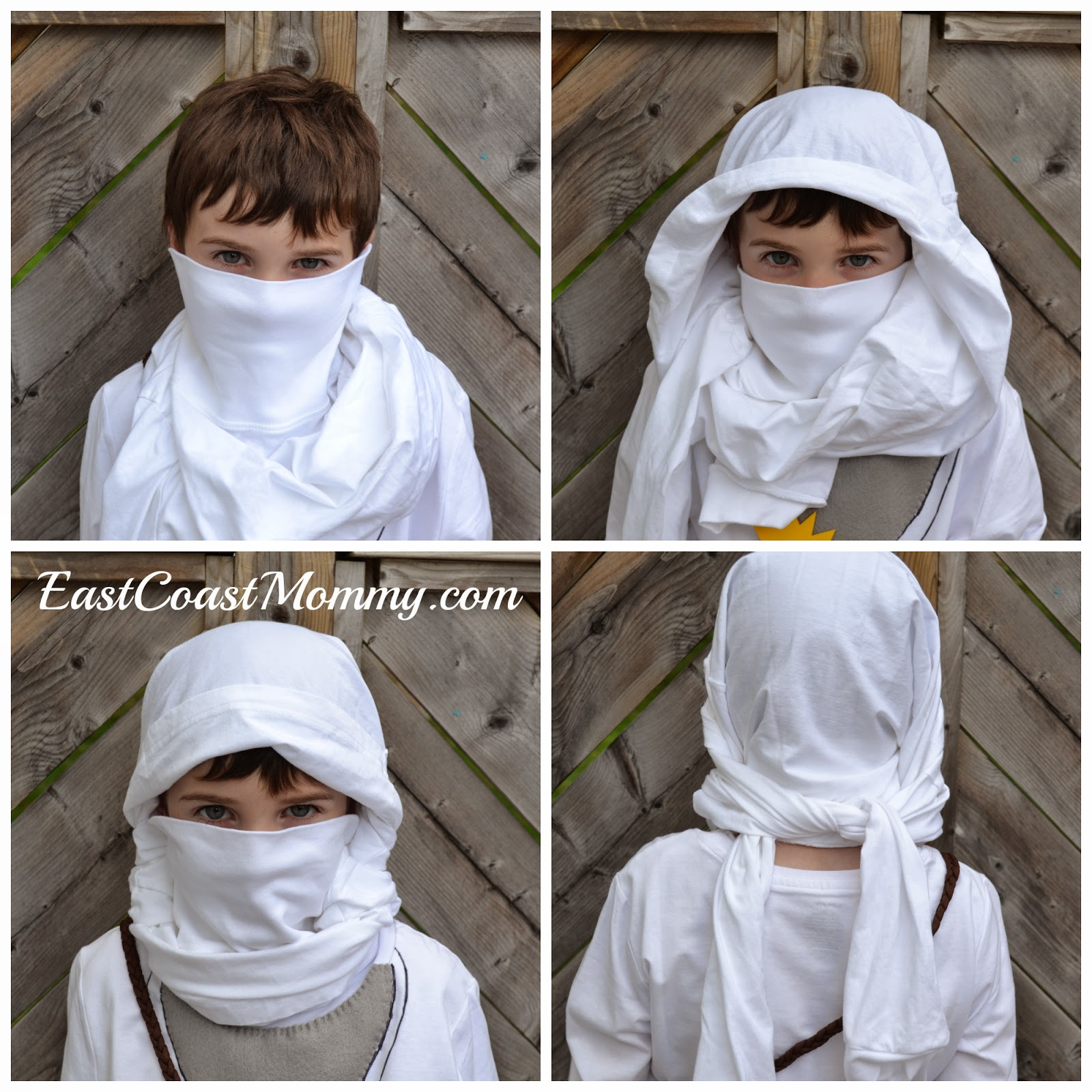 east coast mommy easy black ninja costume no sewing. Black Bedroom Furniture Sets. Home Design Ideas
