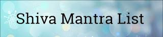 Shiv Mantra List