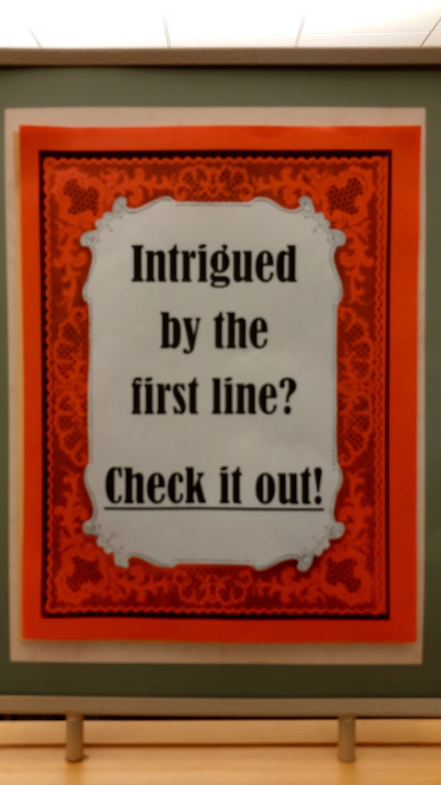 Group Blog: First Lines -- A Quiz ~ by Patricia Toht