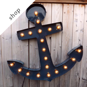 Anchor sign Marquee light by HitandMissLimited