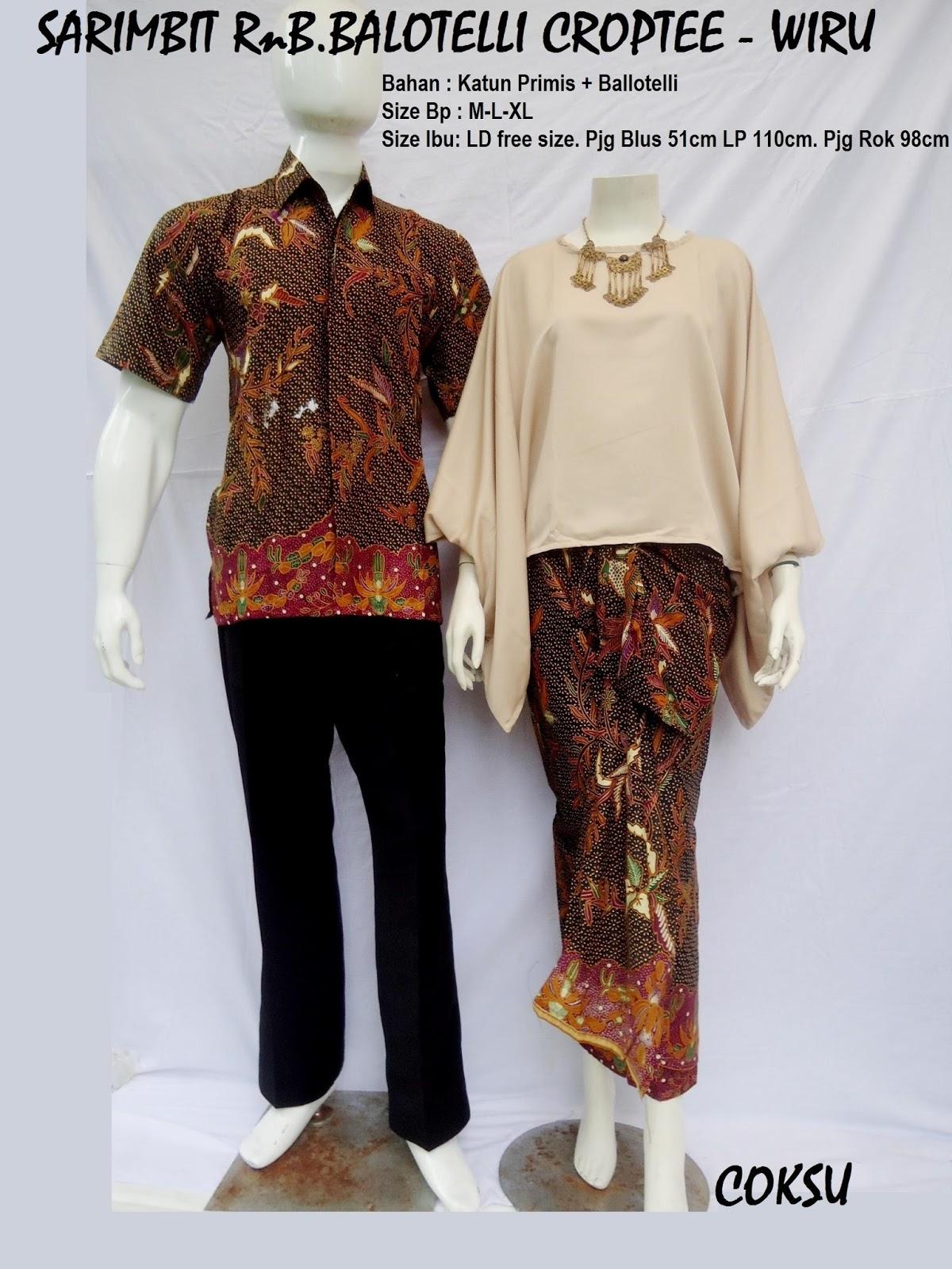 Produksi dan menjual grosireceran baju batik jadi