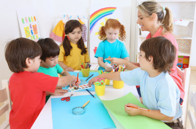 NAMC montessori advantage what is redshirting children painting with teacher