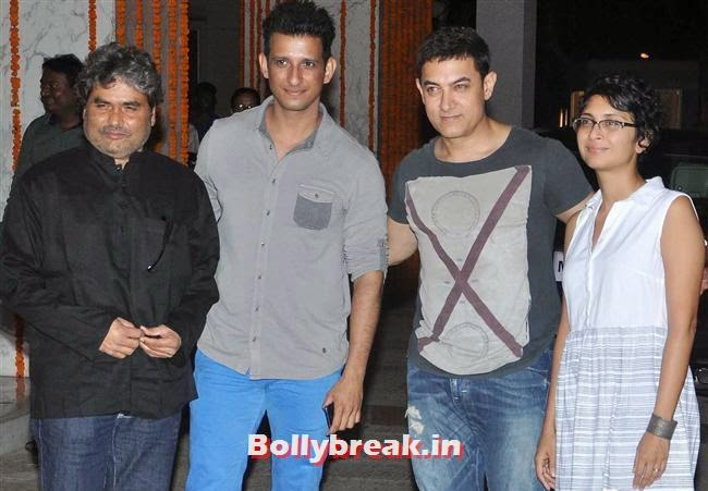 Vishal Bhardwaj, Sharman Joshi, Aamir Khan and Kiran Rao, Bollywood Celebs at Kangana Ranaut Birthday Bash Pics