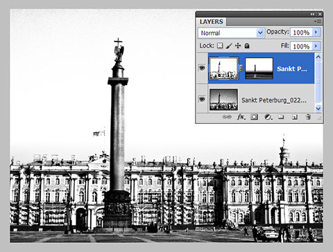 Combine two or more Black & White photos in Photoshop using masks