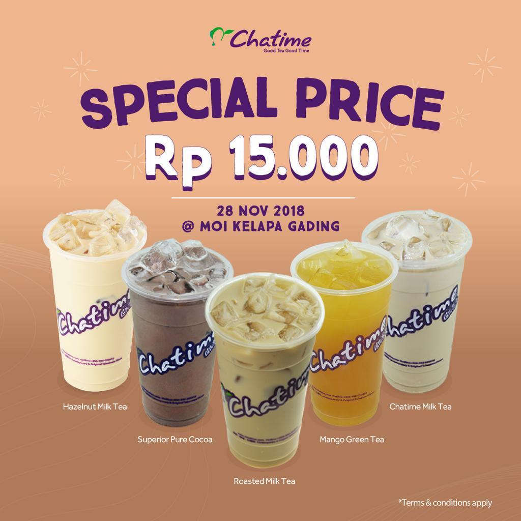 Chatime - Promo Special Price 15 Ribu di MOI Kelapa Gading (HARI INI)