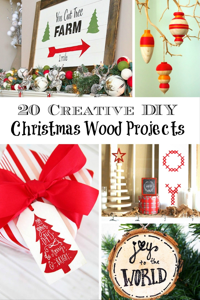 How to make gorgeous and frugal christmas wood projects for Diy christmas craft projects