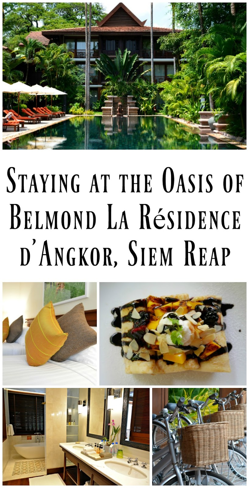 Pin For Later: A relaxing stay at the stunning oasis, Belmond La Résidence d'Angkor in Siem Reap, Cambodia!