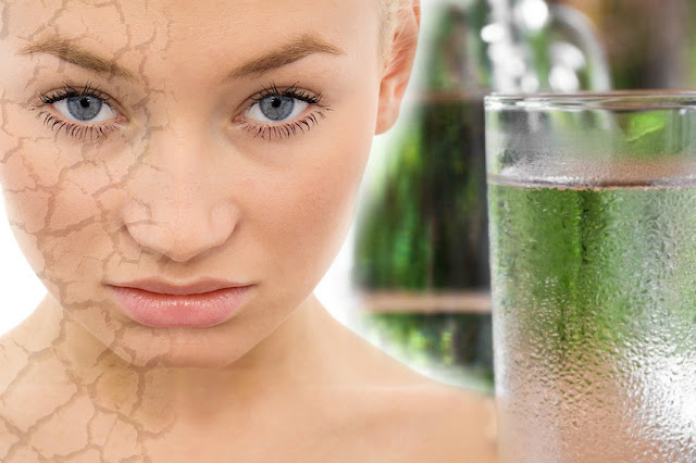 Drink plenty of water for younger looking skin by barbies beauty bits