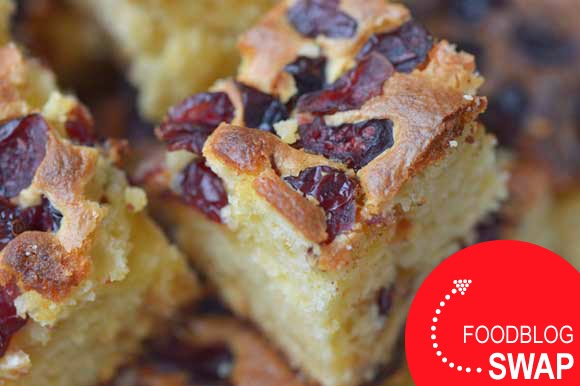 Blondies met cranberry's