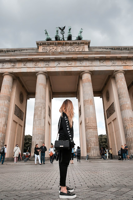 Alicia Mara at The Brandenburg Gate