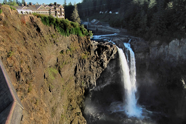 Snoqualmie Falls near North Bend, Washington...