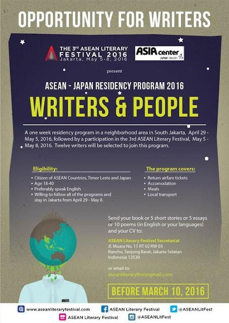 Dibuka! Program Residensi untuk Penulis ASEAN, Timor Leste, dan Jepang