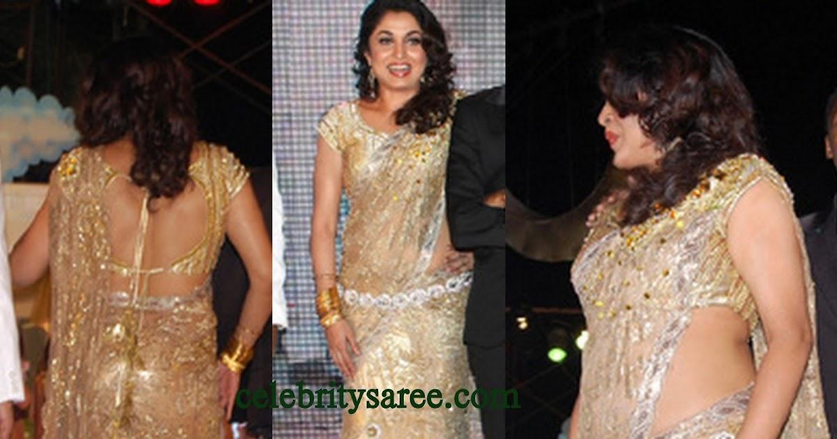Ramya Krishna In Interesting Saree Drape And Back Less