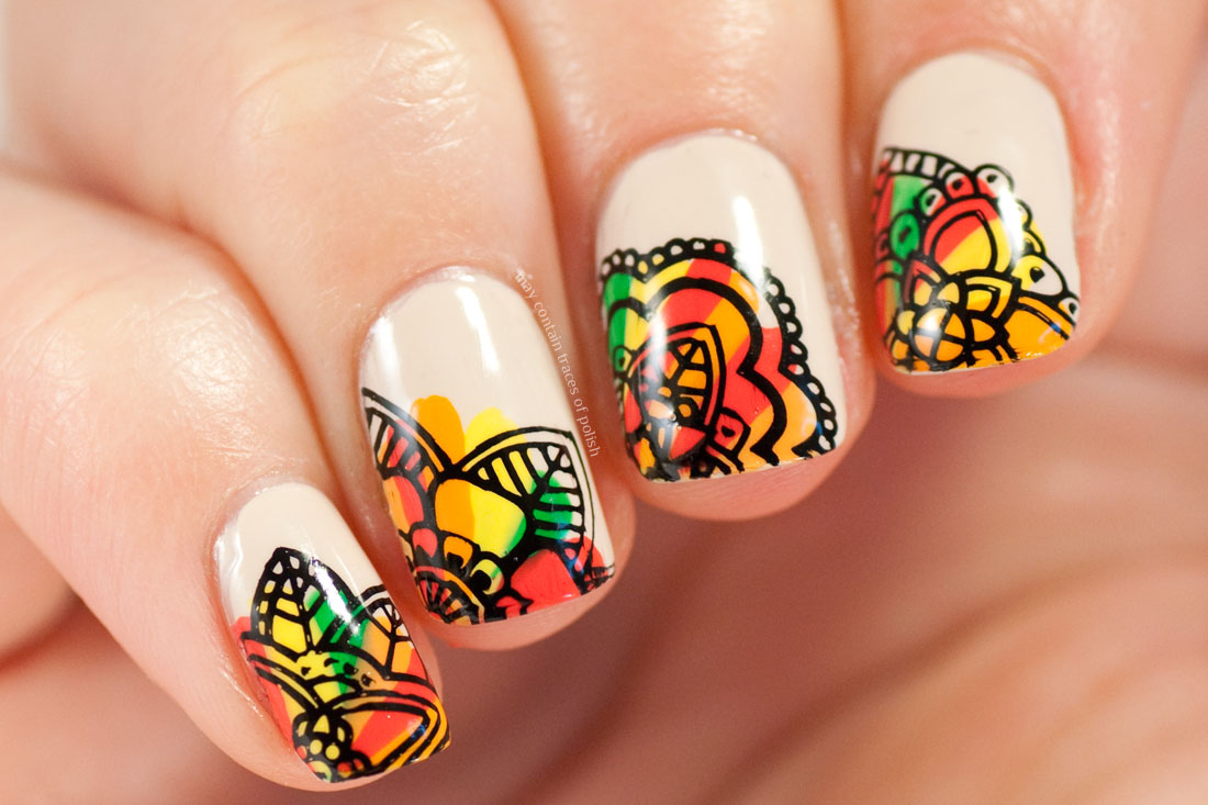 Autumn Pattern Nails - May contain traces of polish