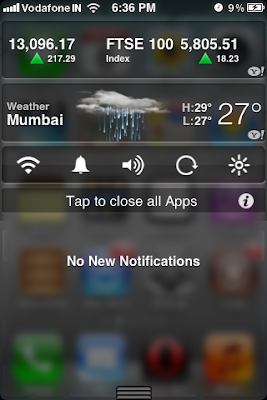 iphone notification center transparent